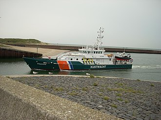 Damen Stan patrol vessel - Image: NL,Z H,G. Den Haag,Scheveningsehav en,Kustwacht entering the port