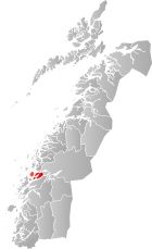 Locator map showing Nesna within Nordland