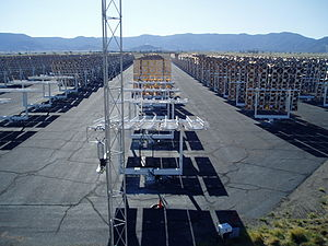 National Solar Thermal Test Facility - The heliostat field at Sandia National. Labs.