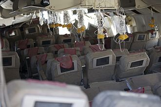 Asiana Airlines Flight 214 - The rear cabin after the crash