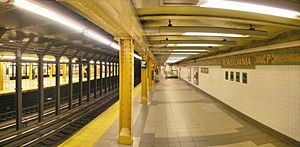 34th Street–Penn Station (IRT Broadway–Seventh Avenue Line) - Northbound local platform