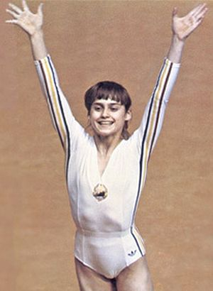 Nadia Comăneci - Nadia Comăneci at the 1976 Olympics
