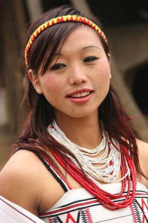 Tuensang district - A woman from Tuensang district