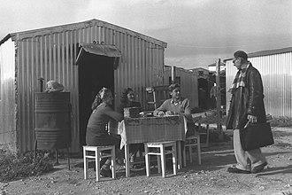 Ma'abarot - Ma'abara near Nahariya, 1952