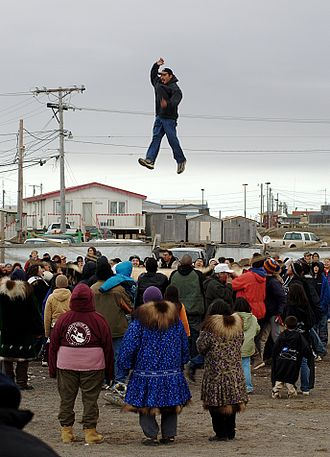 Trampoline - Iñupiat blanket toss during the Nalukataq festival in Barrow, Alaska (2006)