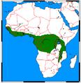 Nandinia binotata range map.png