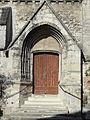 Nanteuil-le-Haudouin (60), église Saint-Pierre, bas-côté sud, 3e travée, portail latéral.JPG