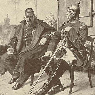 House of Bismarck - Otto von Bismarck (to the right) with the defeated Napoleon III of France