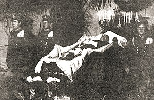 Gabriel Narutowicz - Guard of honor at Narutowicz's funeral bier