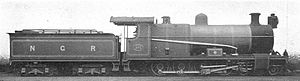 South African type SH tender - Type SH tender on NGR Class B of 1904
