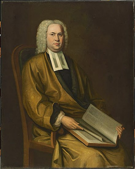 Charles Chauncy, clergyman and president of Harvard from 1654-1672, was an outspoken opponent of the Half-Way Covenant. Nathaniel Smibert Portrait of a Cleric.jpg