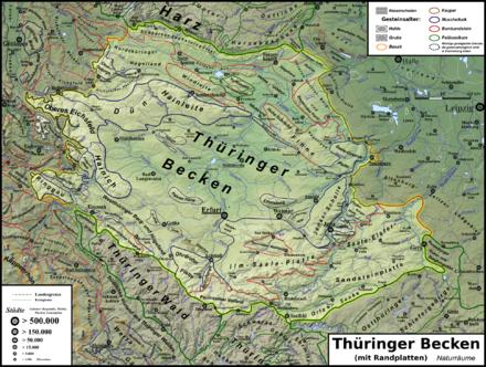 Geologische Karte Thüringen.Thüringer Becken Wikipedia