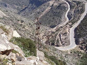 Emery (rock) - Emery mine on Naxos Island