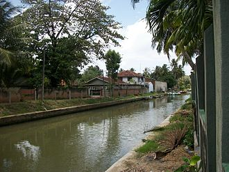 Negombo - Built by the Dutch to transport spices, now used by the local fisherman to get to the sea, Dutch canal in Negombo