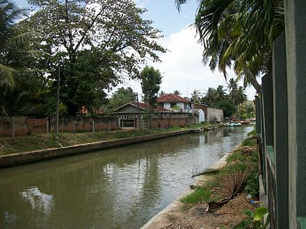 Built by the Dutch to transport spices, now used by the local fishermen to get to the sea, Negombo Dutch canal, Sri Lanka Negombo canal 2.jpg