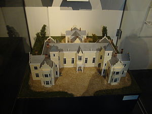 Nelson Province - Model of the Nelson Provincial Government building on display in the Nelson Provincial Museum