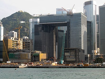 Central Government Complex, Tamar under construction in March 2011. New Govn Headquarters Site 201103.jpg