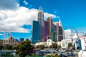 New York-New York Hotel and Casino - View in midday