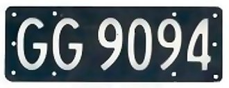 Vehicle registration plates of New Zealand - Old New Zealand silver-on-black plate, issued between 1964 and 1986