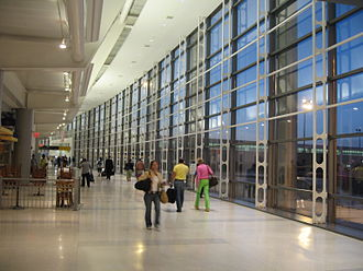Newark Liberty International Airport - Interior of the remodeled Terminal C.