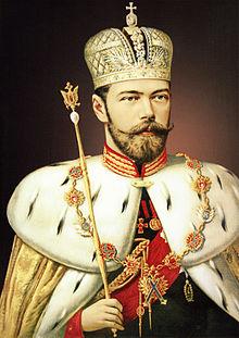 Nicolaas II van Rusland in zijn kroningsjas .jpg