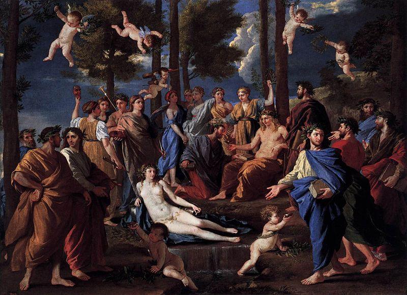 File:Nicolas Poussin - Apollo and the Muses (Parnassus) - WGA18307.jpg