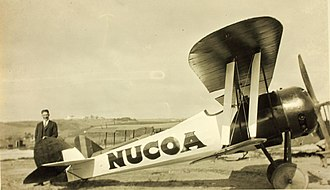 Nieuport 28 - Nieuport 28A advertising Nucoa margarine after the war in the US
