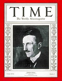 Nikola Tesla on Time Magazine 1931.jpg