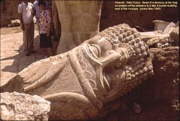 Nineveh Nebi Yunus Excavation Bull-Man Head.JPG