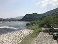 Nishikigawa River and Garyubashi Bridge from Kintaikyo Bridge 10.jpg