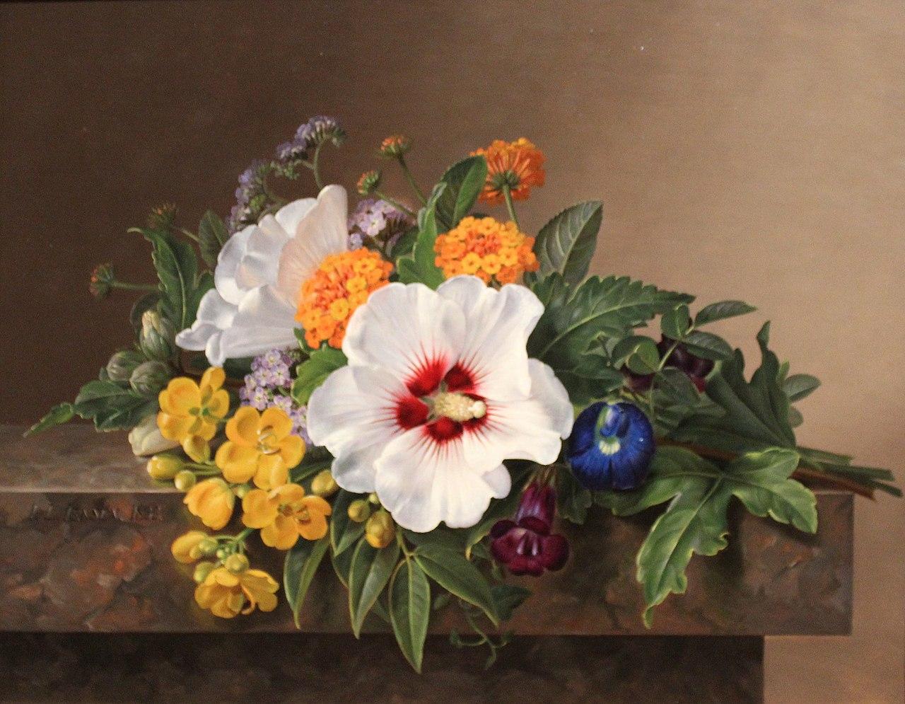 Nivaagaard Museum, Johan Laurentz Jensen, floral still life.JPG