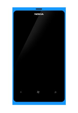 Nokia Lumia 800 - Image: Nokia Lumia 800 Bleu