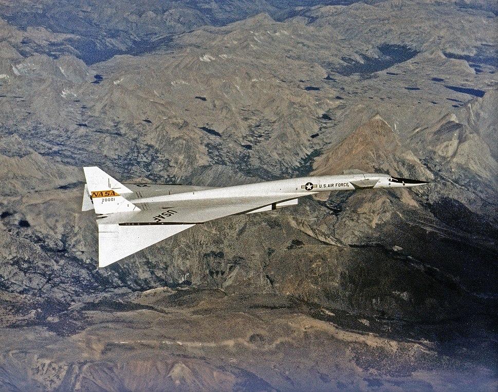 North American XB-70 in Flight EC68-2131