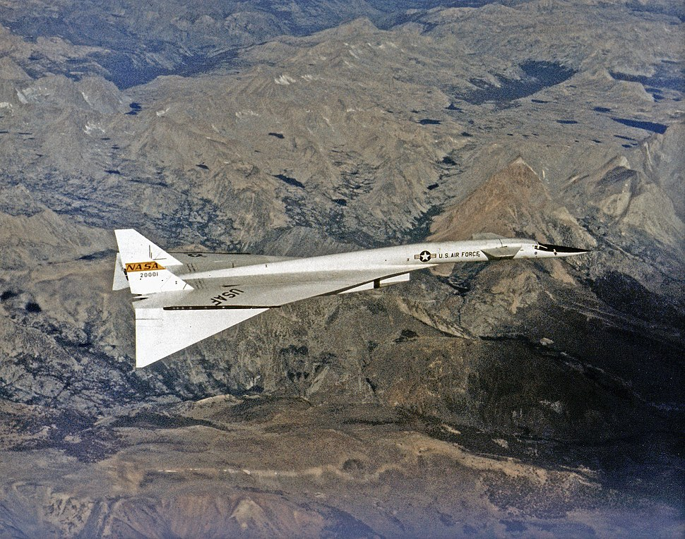 North American XB-70 in Flight EC68-2131