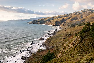 Muir Beach Overlook - Image: Northern California Coast as seen from Muir Beach Overlook