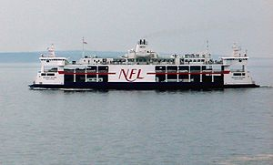 Northumberland Ferries Limited - MV ''Holiday Island'' in the Northumberland Strait, Pictou Island in background.