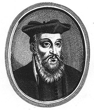 Jean Boulanger - Portrait of Nostradamus after a 17th-century engraving by Jean Boulanger