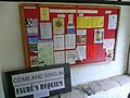 Notices in the porch at St. Agatha's - geograph.org.uk - 921246.jpg