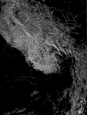 1985 Election Day floods - Image: Nov 85 satellite image