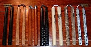 Nunchaku - Various types of nunchaku.