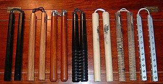Nunchaku traditional Japanese weapon