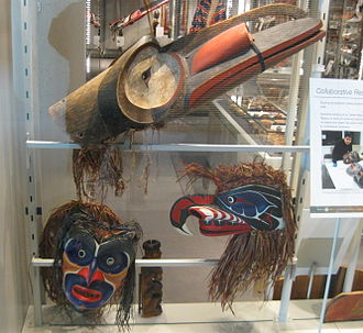 Nuxalk Nation - Nuxalk Nation masks, collection of the UBC Museum of Anthropology