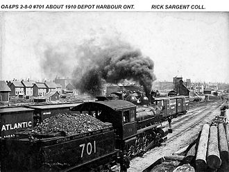 Ottawa, Arnprior and Parry Sound Railway - Image: OAPS at Depot Harbour