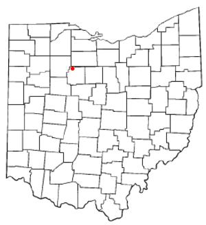 Carey, Ohio - Image: OH Map doton Carey