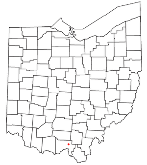 Minford, Ohio - Image: OH Map doton Minford
