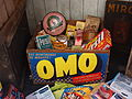 OMO box filled with Persil, Borwax, Toxan and other old stuff.JPG