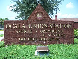 Ocala Union Station - Image: Ocalaunionstation sign 1