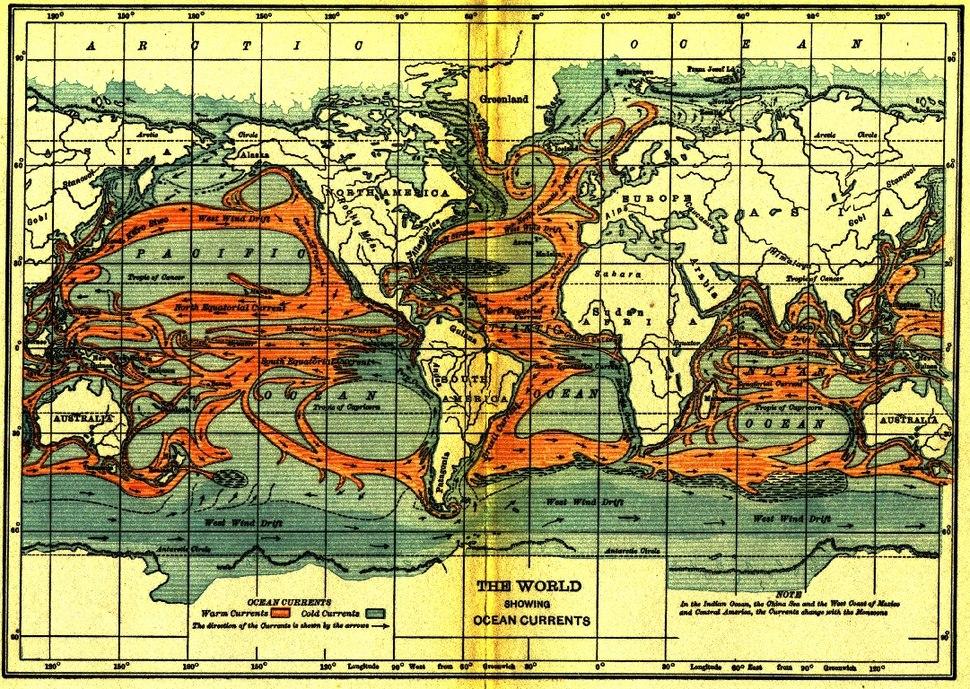 Ocean currents 1911