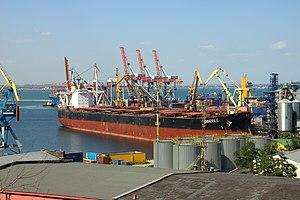 Oděsa, přístav, loď