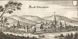 Odernheim am Glan - Odernheim in the 17th century (Matthäus Merian)